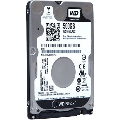 WESTERN DIGITAL-MOBILE SINGLE® 500GB 2.5 SATA 6Gb/s Internal Hard Drive (Black)