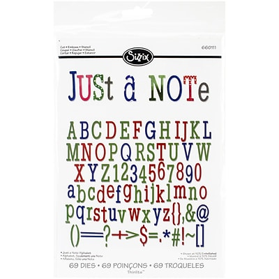 Sizzix® Just A Note Alphabet Thinlits Die Set, 1 1/4