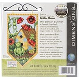 Dimensions Summer Banner Counted Cross Stitch Kit, 5 x 8