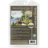 Dimensions Gold Petite Bayside Cottage Counted Cross Stitch Kit, 7 x 5
