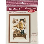 Riolis Cat with Gramaphone Counted Cross Stitch Kit, 7 x 9 1/2