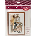 Riolis Cat with Telephone Counted Cross Stitch Kit, 7 x 9 1/2