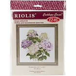 Riolis Garden Hydrangea Counted Cross Stitch Kit, 13 3/4 x 13 3/4
