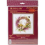 Riolis Wreath with Fireweed Counted Cross Stitch Kit, 11 3/4 x 11 3/4