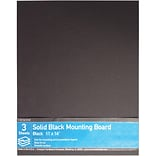 Crescent® Ultra-Black® Mounting Board, Solid Black, 11 x 14, 3/Pack