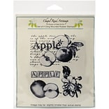 Chapel Road Apple Montage Cling Stamp, 5 3/4 x 6 3/4