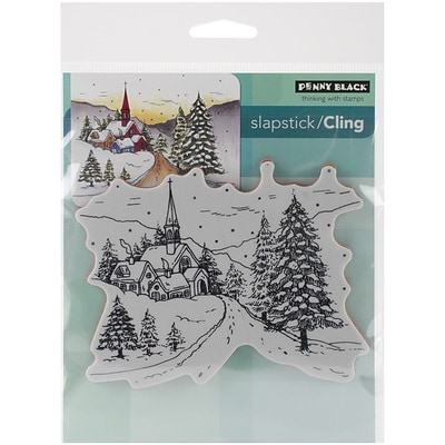 Penny Black® Snowy Hamlet Cling Stamp; 3.7 x 4.7