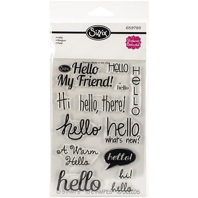 Sizzix® Hello Stamp, Clear, 4 x 6