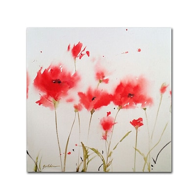 Trademark Fine Art SG5707-C1818GG A Poppy Moment by Sheila Golden 18 x 18 Frameless Art