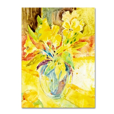 Trademark Fine Art SG5699-C1419GG Vase with Yellow Flowers by Sheila Golden 19 x 14 FRMLS Art