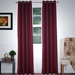 Lavish Home 63-78-B 84 Blackout Grommet Curtain Panel, Burgundy