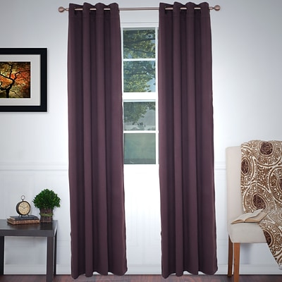 Lavish Home 63-78-C 84 Blackout Grommet Curtain Panel, Chocolate
