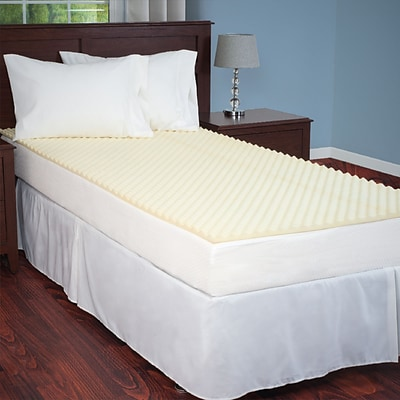 Everyday Home66-52-TXL-T White Mattress Topper, Twin XL