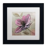 Trademark Fine Art WAP0107-B1111MF Plum Floral III by Emily Adams 11 x 11 Framed Art, WHT MTD