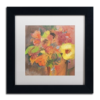 Trademark Fine Art SG5711-B1111MF Floral Expressions by Sheila Golden 11 x 11 FRM Art, WHT MTD