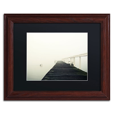 Trademark Fine Art BC0136-W1114BMF No View by Beata Czyzowska Young 11 x 14 Framed Art, BLK MTD