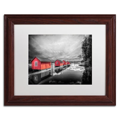 Trademark Fine Art EB0053-W1114MF Timber Booms by Erik Brede 11 x 14 Framed Art, White Matted