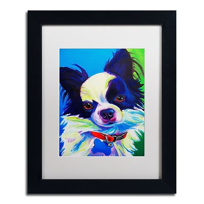 Trademark Fine Art ALI0565-B1114MF Esso Gomez by DawgArt 14 x 11 Framed Art, White Matted