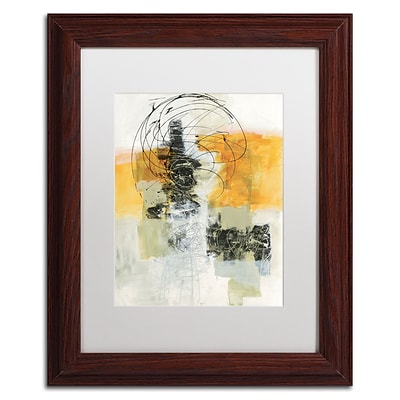 Trademark Fine Art WAP0110-W1114MF Action II by Jane Davies 14 x 11 Framed Art, White Matted