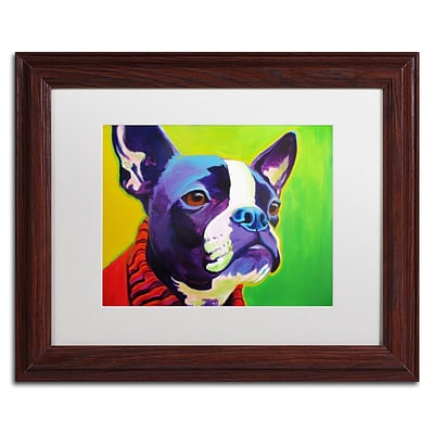 Trademark Fine Art ALI0584-W1114MF Ridley by DawgArt 11 x 14 Framed Art, White Matted