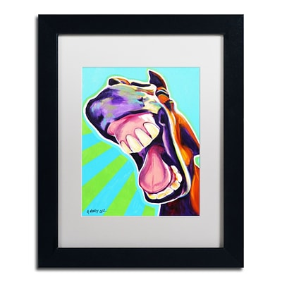 Trademark Fine Art ALI0599-B1114MF Thats A Good One by DawgArt 14 x 11 Framed Art, White Matted