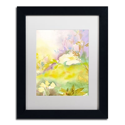 Trademark Fine Art SG5701-B1114MF Enchanted by Sheila Golden 14 x 11 Framed Art, White Matted