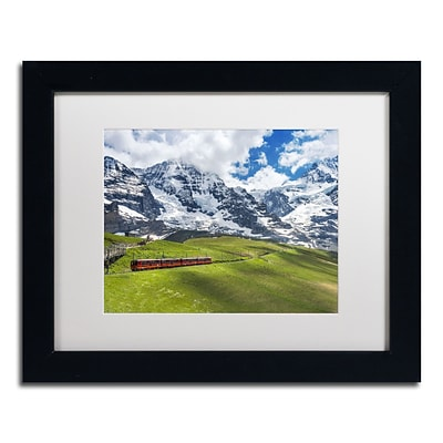 Trademark Fine Art Beautiful Switzerland by Philippe Sainte-Laudy 11x14 FRM Art, WHT MTD (PSL0297-B1114MF)