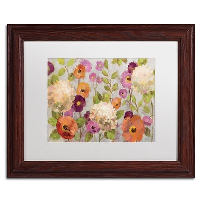 Trademark Fine Art Hydrangeas and Anemones by Silvia Vassileva 11x14 FRM Art, WHT MTD (WAP0129-W1114MF)