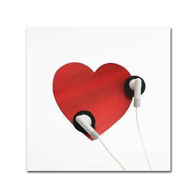 Trademark Fine Art BC0128-C1414GG Listen to Your Heart by Beata Czyzowska Young 14x14 FRMLS Art