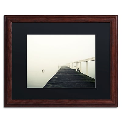 Trademark Fine Art BC0136-W1620BMF No View by Beata Czyzowska Young 16 x 20 Framed Art, BLK MTD