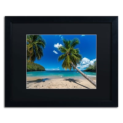 Trademark Fine Art RV0020-B1620BMF Martinique by Mathieu Rivrin 16 x 20 Framed Art, Black Matted