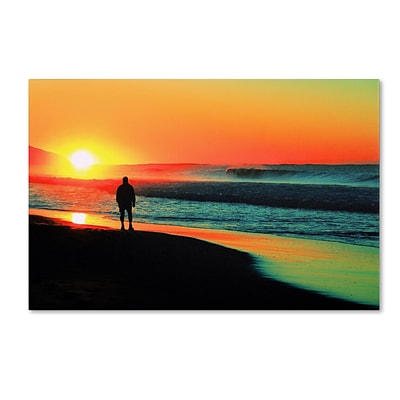 Trademark Fine Art BC0148-C1624GG Sunrise Walking by Beata Czyzowska Young 16 x 24 Frameless Art