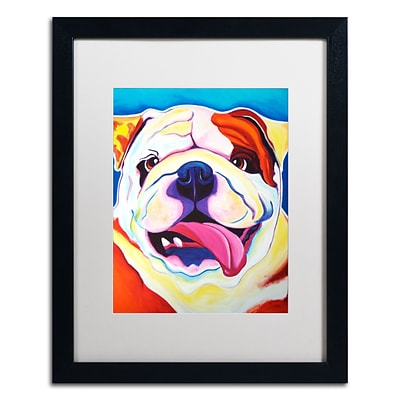 Trademark Fine Art ALI0557-B1620MF Bully Grin by DawgArt 20 x 16 Framed Art, White Matted