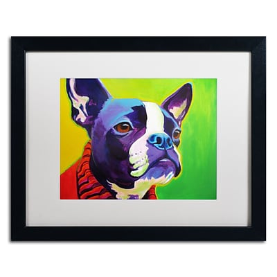 Trademark Fine Art ALI0584-B1620MF Ridley by DawgArt 16 x 20 Framed Art, White Matted