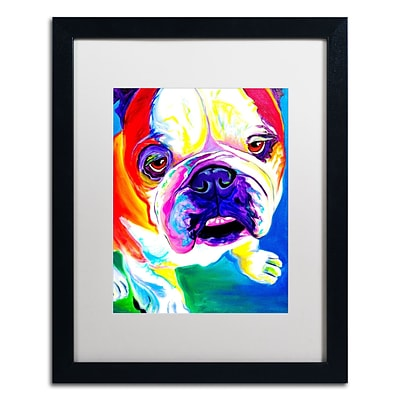 Trademark Fine Art ALI0586-B1620MF Stanley by DawgArt 20 x 16 Framed Art, White Matted
