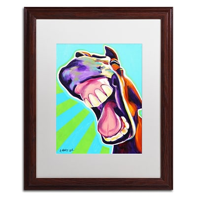 Trademark Fine Art ALI0599-W1620MF Thats A Good One by DawgArt 20 x 16 Framed Art, White Matted
