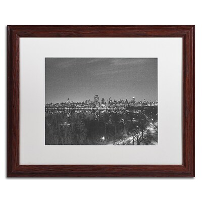 Trademark Fine Art AM0218-W1620MF City From A Far II by Ariane Moshayedi 16x20 FRM Art, WHT MTD