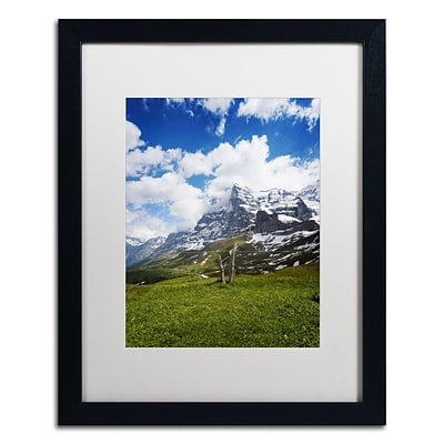 Trademark Fine Art PSL0314-B1620MF Monch Switzerland by Philippe Sainte-Laudy 20x16 FRM Art, WHT MTD