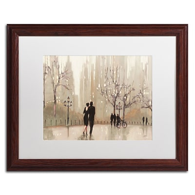 Trademark Fine Art WAP0111-W1620MF An Evening Out Neutral by Julia Purinton 16x20 FRM Art, WHT MTD