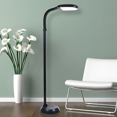 Lavish Home 72-1515 LED Sunlight Floor Lamp, Black