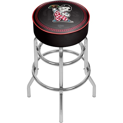 Trademark Global Bobs Big Boy AR1000-BOB-W Steel Padded Swivel Bar Stool, Watermark