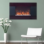 Even Glow 80-15725 Mahogany Wood Trim Electric Fireplace