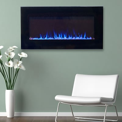 Northwest 80-2000A-42 LED Fire and Ice Electric Fireplace with Remote; 42