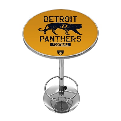 Trademark Fine Art VAF VAF2000-DP 42 Metal Chrome Pub Table; Detroit Panthers