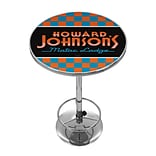 Trademark Fine Art Howard Johnson AR2000-HOJO-C 42 Metal Chrome Pub Table; Checkered