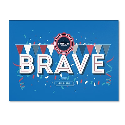 Trademark Fine Art ALI0606-C2432GG Brave by Kavan & Co 24 x 32 Frameless Art