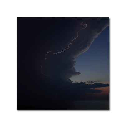 Trademark Fine Art KS0151-C1818GG Sunset Thunderhead #1 by Kurt Shaffer 18 x 18 Frameless Art