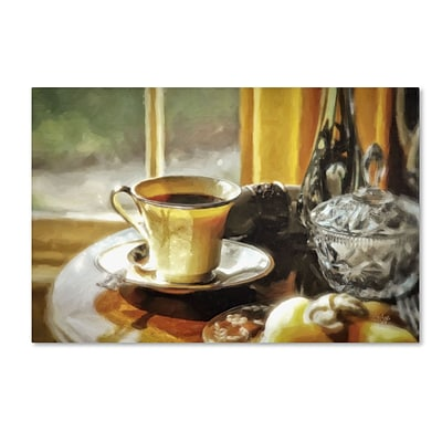Trademark Fine Art LBR0244-C3047GG Breakfast is Ready by Lois Bryan 30 x 47 Frameless Art