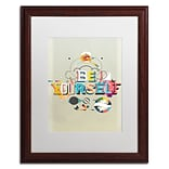 Trademark Fine Art ALI0603-W1620MF Be Yourself by Kavan & Co 20 x 16 Framed Art, White Matted