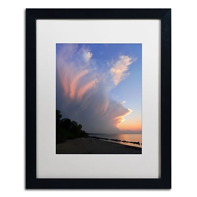 Trademark Fine Art KS0150-B1620MF Developing Sunset Storm by Kurt Shaffer 16x20 FRM Art, WHT MTD